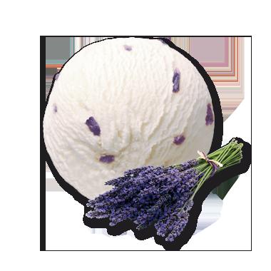 Lavendel Doppelrahm Glacé